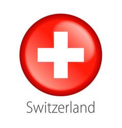 Switzerland round button flag vector