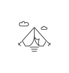 tent related line icon vector image