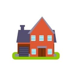 Terracota Suburban House Exterior Design With vector