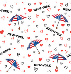 Travel usa seamless pattern love new york city vector