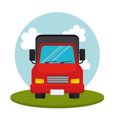 truck transport vehicle icon vector image