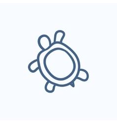 Turtle sketch icon vector image