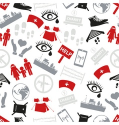 various simple refugees theme icons set seamless vector image