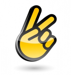 victory sign gesture vector image