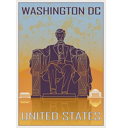 Washington dc vintage poster vector