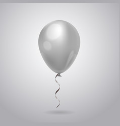 white balloon for celebration decoration isolated vector image