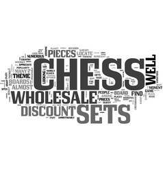Wholesale chess sets and parts text word cloud vector