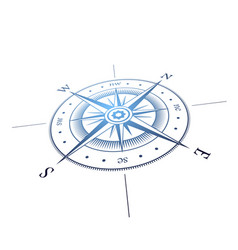 Wind rose perspective vector
