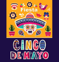 with design for mexican holiday 5 ma vector image