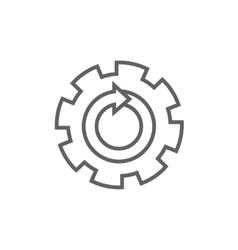 Gear wheel with arrow line icon vector
