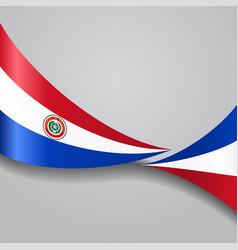 paraguayan wavy flag vector image