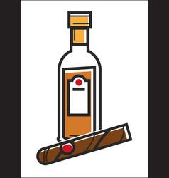 rum and cigar cuba travel popular destination vector image