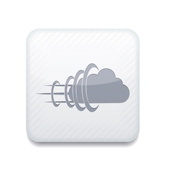 white cloud icon Eps10 Easy to edit vector image vector image