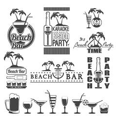 beach bar vector image