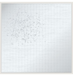 Dotted metal plate vector image vector image