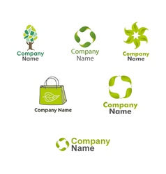 Eco Logos set vector image