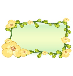 Flower plant frame design vector image vector image