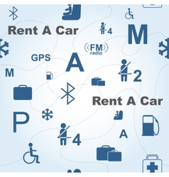 Rent a Car seamless pattern vector image vector image