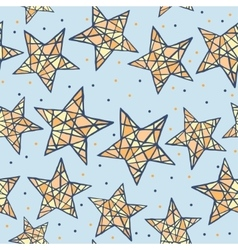 seamless colorful stars pattern vector image vector image