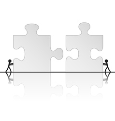 solving puzzle vector image vector image