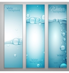 Water Wave Banners vector image