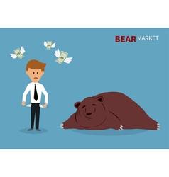 bear treading on the stock market vector image