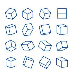 geometric shapes platonic solid icon line vector image