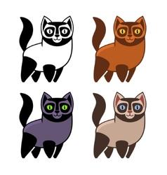 Set of Cartoon Kitties or Cats vector image