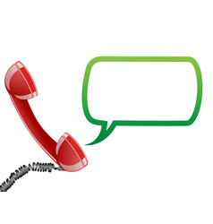 Telephone receiver and speech bubble vector