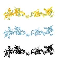 Vintage ornament filigreeen ornate decorative vector image vector image