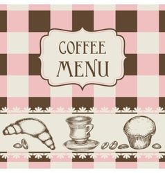 coffee and cakes menu vector image vector image