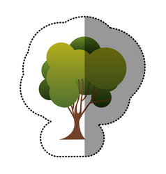 color stamp tree art icon vector image