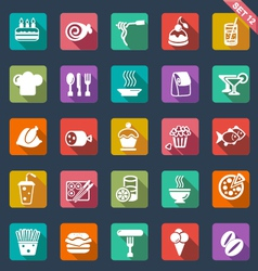 Food icons- flat design vector image vector image