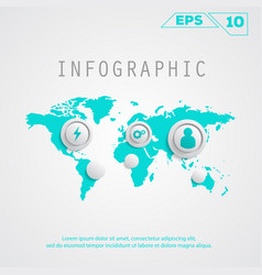 infographic map vector image