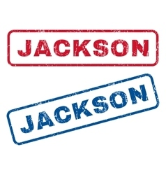 Jackson rubber stamps vector