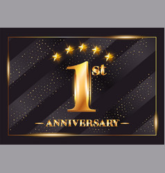 1 year anniversary celebration logo 1st vector