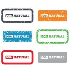 100 percent natural sign Organic food symbol vector