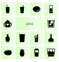 14 juice icons vector