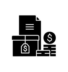 Accounts receivable black glyph icon vector
