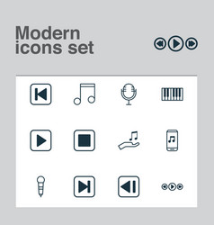 Audio icons set collection of mike microphone vector