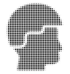Black pixel soldier helmet icon vector