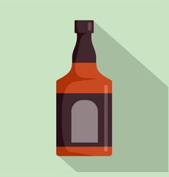 bottle of rum icon flat style vector image