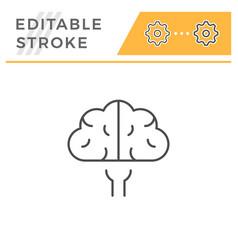 brain line icon vector image