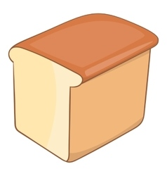 Bread icon cartoon style vector