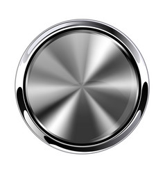 Brushed metal 3d button vector
