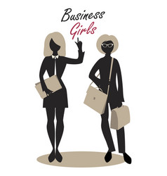 Business woman silhouette-05 vector
