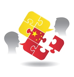 Chinese lesson dialog vector image