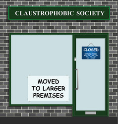 Claustrophobic society vector