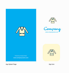 coat company logo app icon and splash page design vector image