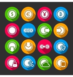 Collection coins for finance or money app vector